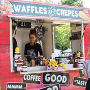 Waffles crepes stall